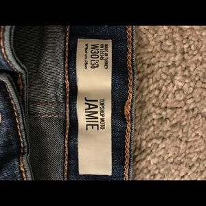 Topshop Moto Blue Jamie Jeans High Waisted W30L28